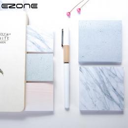 EZONE Marmuru Drukowane Sticky Note Kreatywny Styl Memo Pad Samoprzylepne Placu Papiery Zakładki Papiernicze Szkolne Biurowe