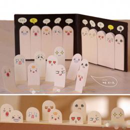 1 Sztuk 200 Stron Kawaii Unikalne Scrapbooking Dziesięć Palców Naklejka Zakładki Tab Flagi Karteczki Memo Book Marker Biurowych