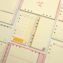 A5 A6 Śliczne Kolorowe Diario Wkłady Spoiwa Wypełniacz Papieru Planowanie Organizator Akcesoria Wypełniacz Papieru Dla Filofax