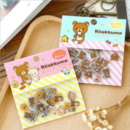 80 sztuk/partia Słodkie Rilakkuma Mini Papieru Stickerbag Diy Diary Planner Dekoracji Naklejki Albumu Scrapbooking Kawaii Biurow
