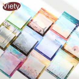 1 x malarstwo krajobraz naklejki notatnik memo pad sticky notes papieru planowanie kawaii biurowe pepalaria biuro szkolne