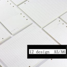 A5/A6 Spirali Notebooka Wypełniacz Papieru Dla Filofax Diario Planner Wewnętrzna Stron Wymiana Akcesoria Biurowe Spoiwa Książka