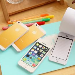 1 sztuk Kreatywny Biały Moda Lepkie Post Papier Uwaga Telefon komórkowy Shaped Memo Pad Podkładki Memo Papieru Uwaga Pad DIY dla