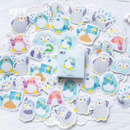 45 sztuk Deco Scrapbooking Naklejki Diary Planner Kawaii Penguin sticky notes Abums Zdjęcie Tag/prezent pasty/Słodkie papeteria