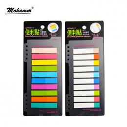 1 sztuk 7/10 Kolory PET 20 Arkuszy Na Kolor Index Tabs Flagi Sticky Note dla Page Marker Naklejki Akcesoria Biurowe piśmiennicze