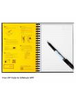 Dropshipping Elfinbook 2 Wymazywalnej Wielokrotnego Użytku Inteligentny Mikrofalowa Notebook Fala Chmura Erase Notatnik Uwaga Pa