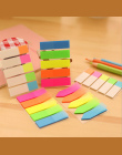 1 sztuka Lepkie Post Filofax Podkładki Memo Biurowe Szkoła Zarysowania Piśmienne Rainbow Fluorescencji Indeks Notatnik Notatki