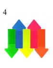 Śliczne Kawaii ZWIERZĘTA Rainbow Kolor Naklejki Fluorescencyjne Filmu Karteczki Memo Pad Notatnik Piśmienne Biuro Szkolne