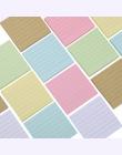 80 stron/zestaw Soild Kolor Memo Pad Diy Post It Kawaii Biurowe Szkoła Zestaw Papeterii Biurowe Notatnik Słodkie sticky Notes