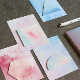 1 Sztuk New Fantastic Akwarela Geometryczne Samoprzylepne Karteczki Memo Pad Post It Dodaj Do Ulubionych Szkoły Biurowymi Prezen