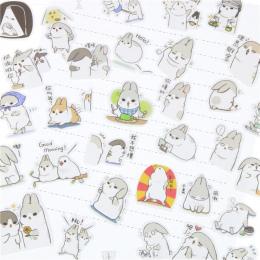 40 Sztuk/paczka Nowy Kawaii Chubby Serii Królik Zwierzę Naklejki opakowanie/Hot Sprzedam Deco Pakowania Naklejki/Szkoła Biurowy