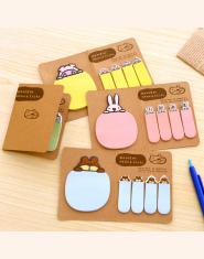 Nowy Śliczne Kawaii Zwierząt Koreański Królika Owiec Piśmienne Memo Pad Scrapbooking Sticky Notes Książka Papier Naklejka Zakład