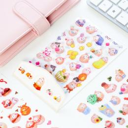 Kolorowe Naklejki Zwierzęta dla dziecka dziewczynki chłopaka Króliki Planner Album