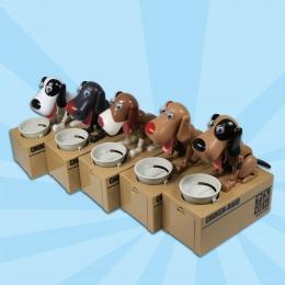 1 szt Puppy Głodny Monety Banku Choken Bako Robotic Pies Skarbonka Doggy Monety Banku Psów Saving Money Box Psów