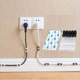 Zaciski kablowe - uchwyty na kabel samoprzylepne. Organizacja kabli