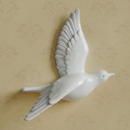 Ptak gołąb dekoracyjny na ścianę do ozdoby domu pokoju sypialni figurki 3d