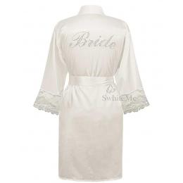 LP004 Ślubu Panna Młoda Druhna Kwiatów Robe Satin Rayon Szlafrok Kimono Piżamy Koszula Nocna Dla Kobiet Kwiat Plus Size