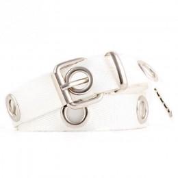 1PC kobiety studentów Jean na płótnie paski srebrny Pin klamra pas moda długie osobowości na co dzień metalowy pierścień dziki p