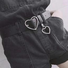 Moda PU skórzany pasek kobiety metalowe serce klamra gorset pas dla kobiet sukienka na imprezę wystrój pas panie paski Streetwea