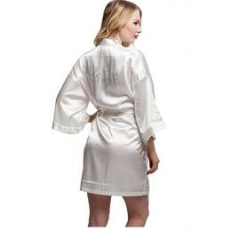 Moda Silk Druhna Panny Młodej Robe Sexy Kobiety Krótkie Satynowe Ślub Sukienka Kobieta Szlafrok Szaty Kimono Piżamy Koszula Nocn
