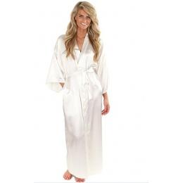 Kobiety Silk Satin Długa Suknia Ślubna Druhna Panny Młodej Robe Kimono Szlafrok Szata Feminino Duży Rozmiar XXXL Seksowny Szlafr