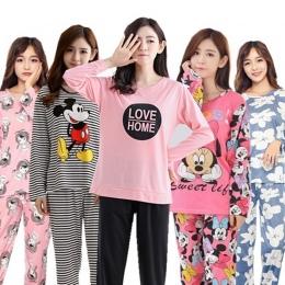 Hurtownie Piżamy Ustawia Wiosna Jesień 22 W Stylu Cienki Karton Generacji Kobiety Długie Piżamy Garnitur Domu Kobiety Prezent Ko