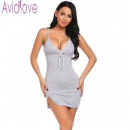 Avidlove Sexy Bawełna Koszula Nocna Kobiety Bez Rękawów Pasek Bielizna Nocna Bielizna Nocna Dla Kobiet Salon Nosić Night Dress D