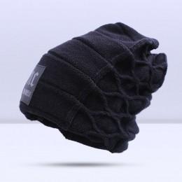 2019 stylowy Skullies czapki zimowe czapki mężczyzna gruby ciepły czapka zimowa grube mężczyźni kapelusz czapki czapka z daszkie