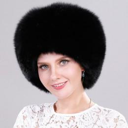 ICYMI cały kawałek futra lisa kapelusz z ogon kobiety czapka zimowa prawdziwe futro kapelusz moda rosyjska uszanka grube ciepłe