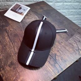 Kobiety Patchwork kolor paski czapka z daszkiem damskie Bow-węzeł moda Hip Hop tata kapelusz na co dzień z daszkiem czapka z das