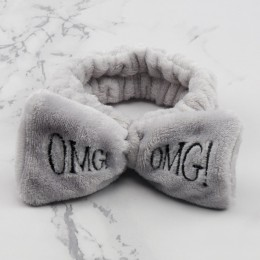 Damskie motyl łuk opaska do włosów moda OMG litery do mycia twarzy z pałąkiem na głowę dziewczyny nakrycia głowy opaski do włosó
