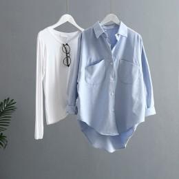 2019 wiosna kobiety lato bluzka koreański długi rękaw kobiet popy i bluzki w stylu Vintage kobiety koszulki z krótkim rękawem Bl