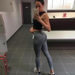 Moda Push Up Legginsy Kobiet Treningowe Legginsy Slim Legginsy Poliester V-Talia Jeggings Spodnie Kobiety Ołówek
