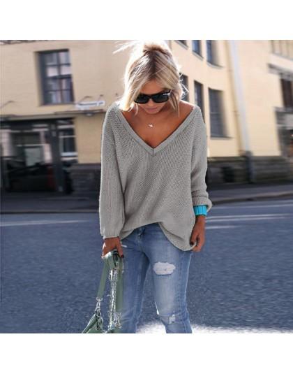 2019 nowy Plus rozmiar jesień zima Knitting na co dzień z długim rękawem solidna kolory sweter luźne swetry damskie moda damska