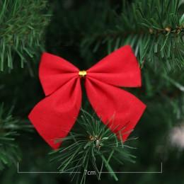 12 sztuk dość złoty Bowknots boże narodzenie Ornament drzewo dekoracje Party Bowknots bombki nowy rok boże narodzenie świąteczne