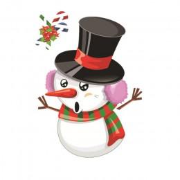 Bożonarodzeniowe okienne naklejki święty mikołaj/bałwan/ełk szklana naklejka świąteczne dekoracje na boże narodzenie dla domu Na