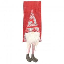 Wina Santa Claus pokrowiec na termofor dekoracje świąteczne acje dla domu nowy rok Xmas Decor butelka czerwonego wina pokrowce n