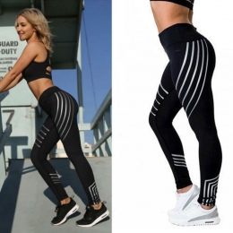 2018 Moda Kobiet Legginsy Slim Wysoka Talia Elastyczność Legginsy Fitness leginsy Drukowania Oddychająca Kobieta Spodnie Leggins