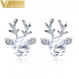 1 para kobiety Xmas prezent elegancka biżuteria boże narodzenie perła kolczyki jelenia renifer uszu stadniny