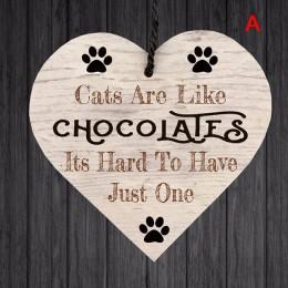 1Pc Xmas drewniane miłość boże narodzenie Chip wiszące prezent tablica wisiorek w kształcie serca w kształcie serca list przyjaź