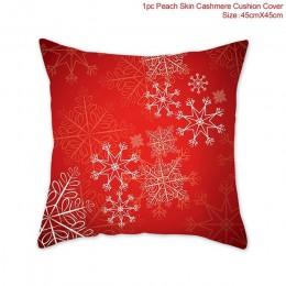 Poszewka na poduszkę Boże Narodzenie Święta dekoracje renifer św. Mikołaj gwiazdka
