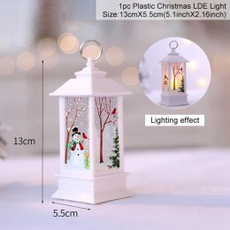 QIFU święty mikołaj Snowman światła wesołych świąt dekoracje świąteczne dla domu 2019 boże narodzenie ozdoby drzewo Navidad Noel