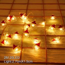 QIFU wesołych boże narodzenie dekoracje do domu 2019 Navidad boże narodzenie lampki choinkowe boże narodzenie ozdoby świąteczne