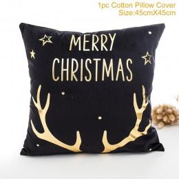 QIFU dekoracje na święta Bożego Narodzenia dla ozdoby do domu boże narodzenie 2019 Navidad Natal Deer święty mikołaj szczęśliweg