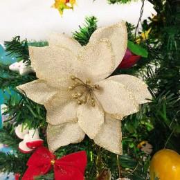 FEESTIGO 10 sztuk sztuczne kwiaty dekoracje na boże narodzenie dla domu boże narodzenie ozdoby choinkowe choinki nowy rok wystró