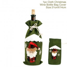 QIFU wina Santa Claus pokrowiec na termofor wesołych świąt dekoracje na boże narodzenie dla domu 2019 boże narodzenie ozdoba Nav