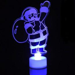 Wesołych świąt akrylowe światło LED boże narodzenie ozdoby choinkowe wisiorek boże narodzenie święty mikołaj Snowman światła Xma