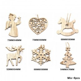 Wielu styl kreatywny drewna rzemiosło boże narodzenie drewniane wisiorki ozdoby dla dzieci prezent DIY ozdoba na choinkę dekorac