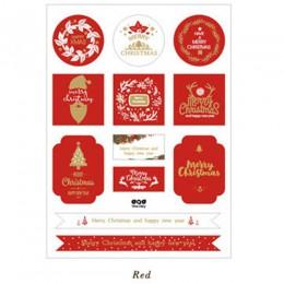 FEESTIGO 2 sztuk/partia prezent dekoracja bożonarodzeniowa papieru naklejki DIY zawieszka na prezent etykiety na nowy rok prezen