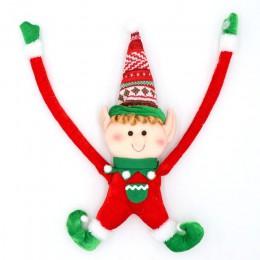 OurWarm boże narodzenie dekoracji Elf Doll pluszowe boże narodzenie choinki wiszące ozdoby wesołych świąt nowy rok dla dzieci za